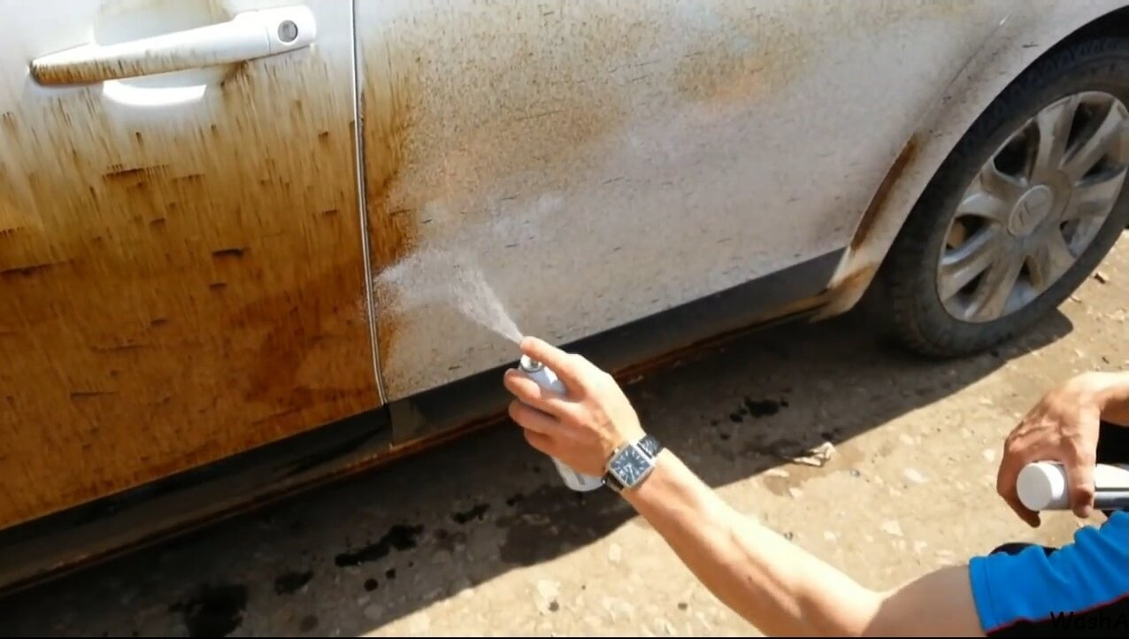 Чем отмыть краску с автомобиля своими руками 63