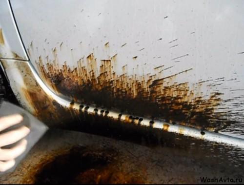 Как отмыть битум с кузова